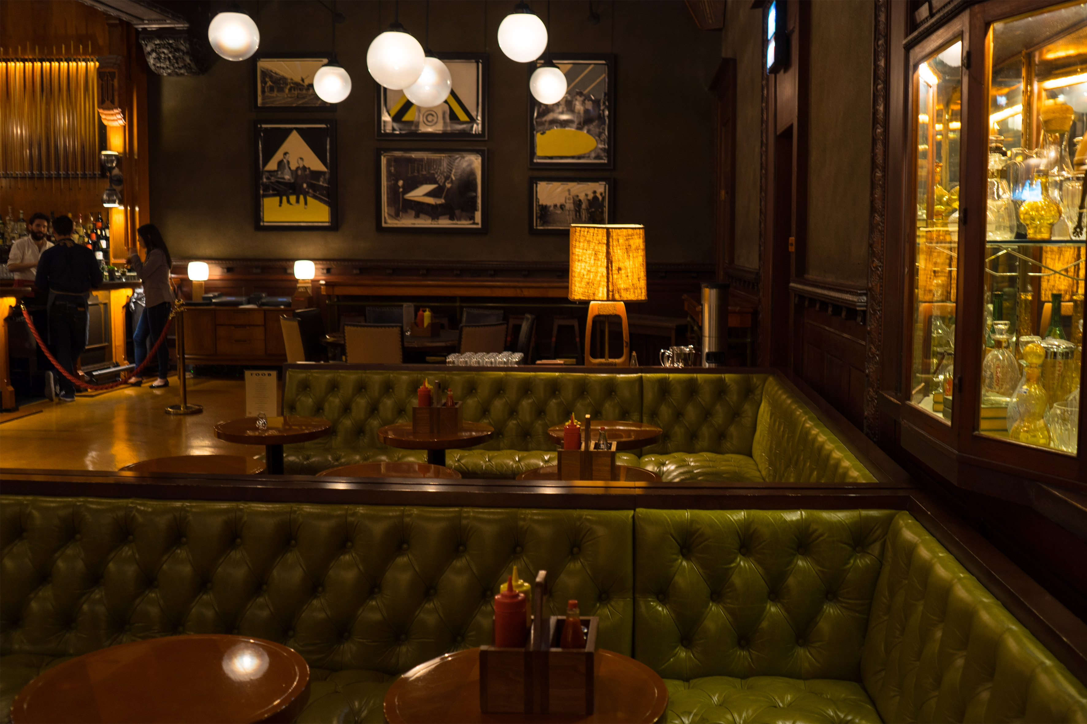 Leather seats in Chicago Athletic Association Hotel Game Room