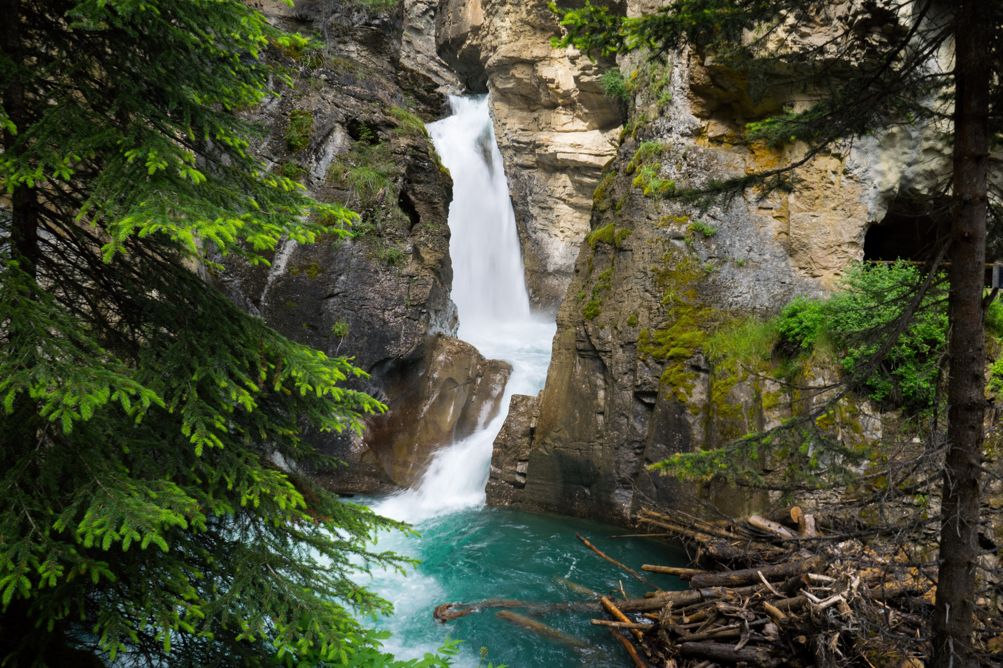 Waterfalls, Johnston Canyon
