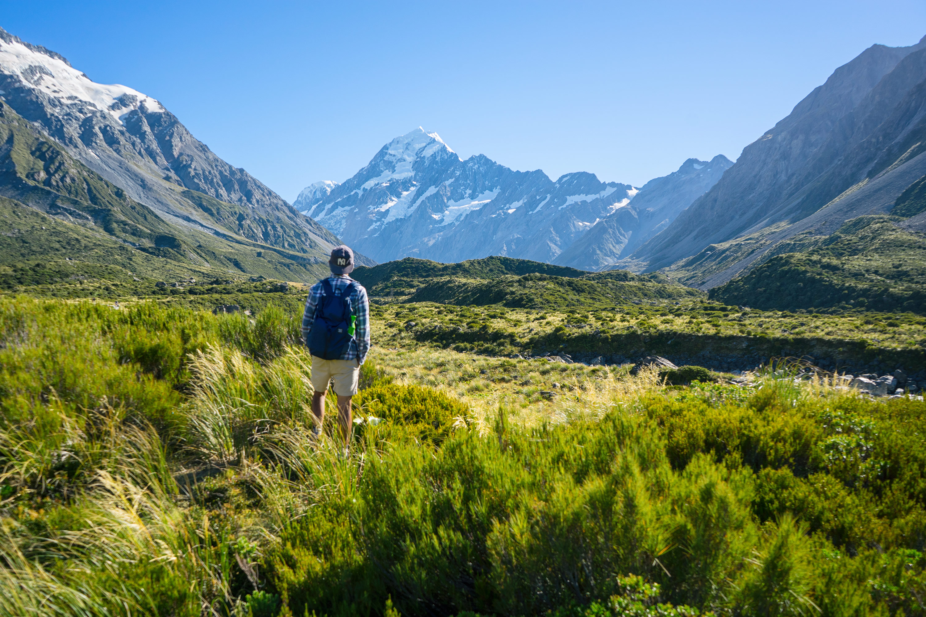 Tom at Aoraki/Mt Cook Hooker Valley Track