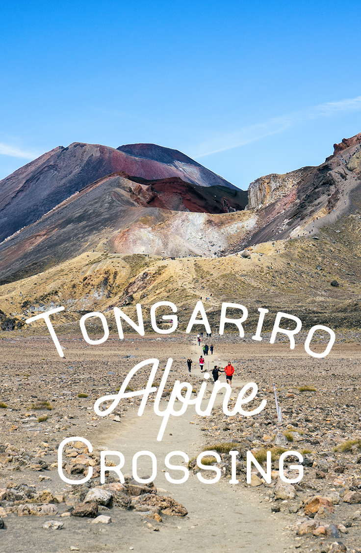 Tongariro Alpine Crossing Trail View With Red Crater And Mt Ngauruhoe Background Pinterest Card