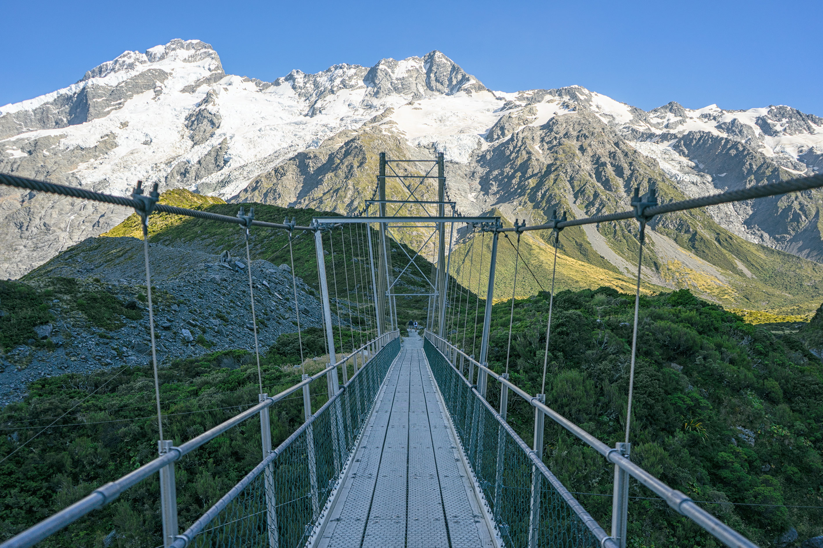 Aoraki Mt Cook Hooker Valley Track Swing Bridge