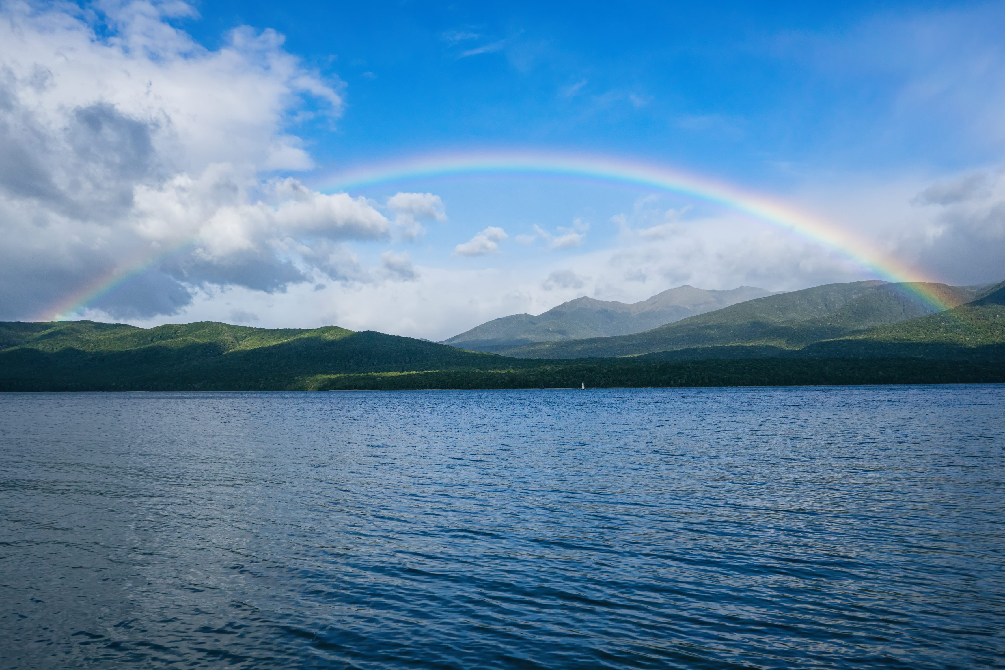 Lake Te Anau Full Rainbow