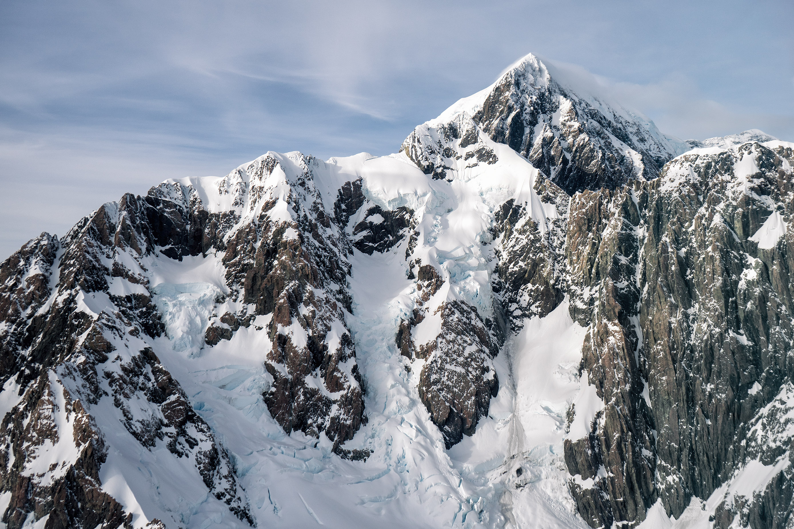 Southern Alps From Above Aoraki Mt Cook Up Close View From Helicopter