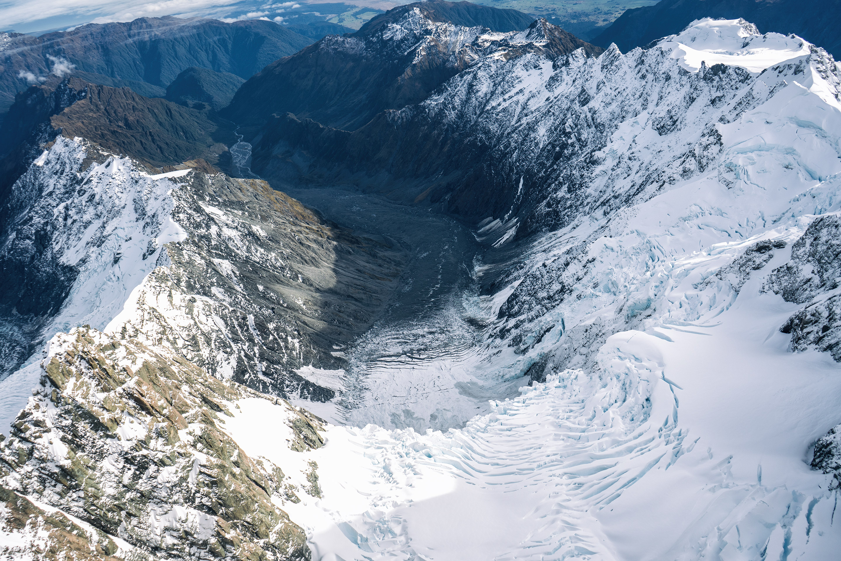 Southern Alps From Above Mountains And Glacier View