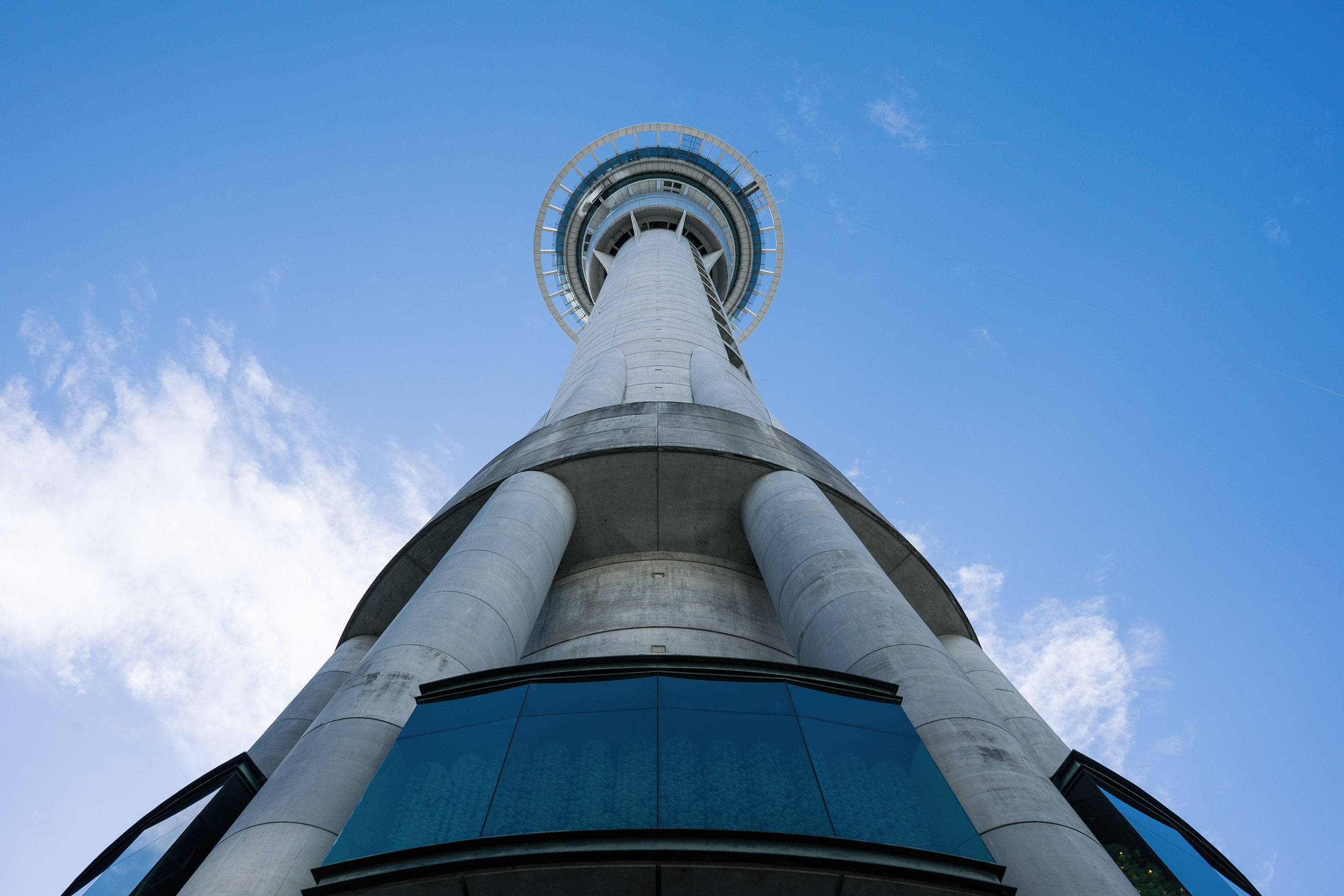 Auckland Sky Tower View From The Ground