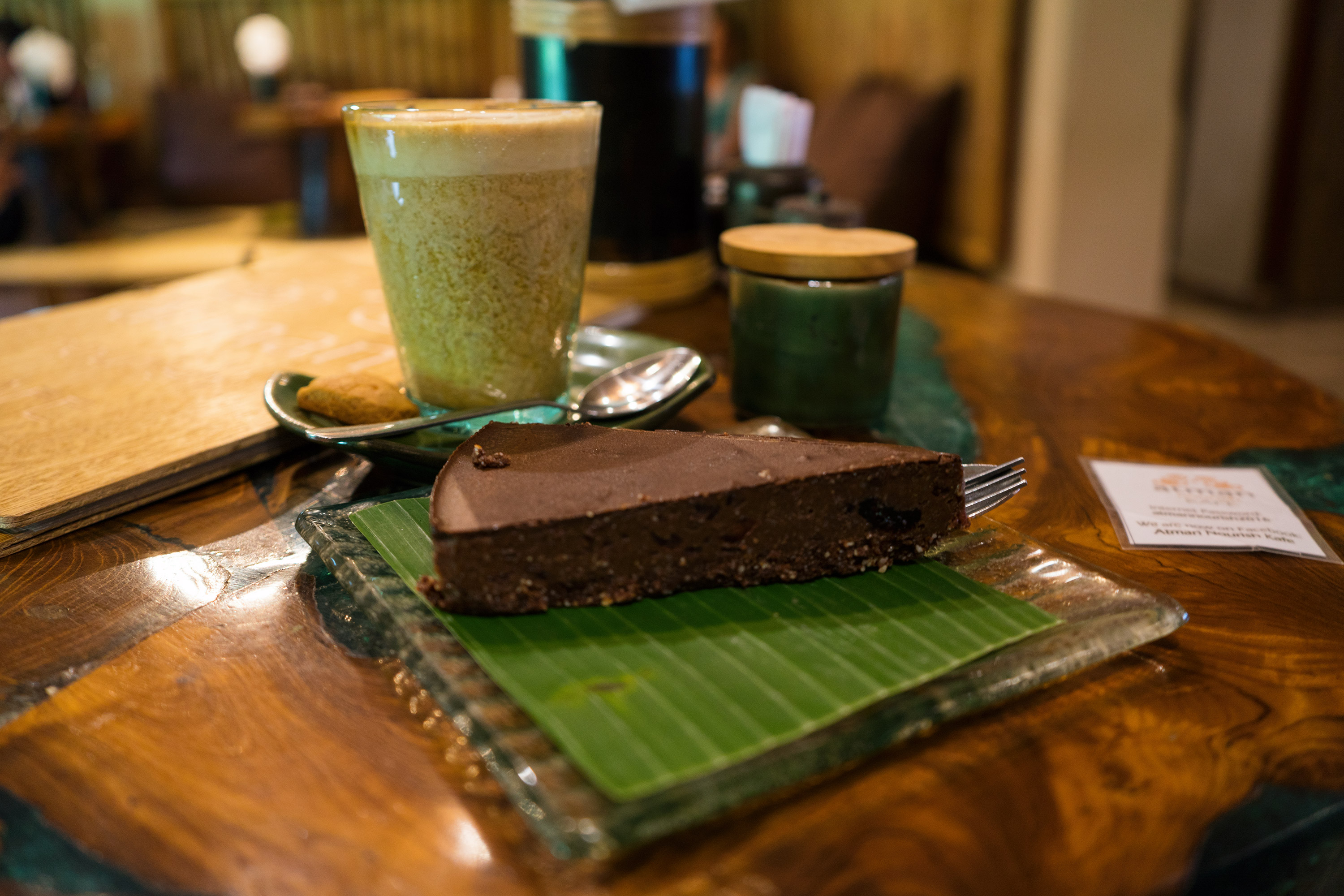 Bali Ubud Atman Nourish Kafe Dessert And Coconut Coffee