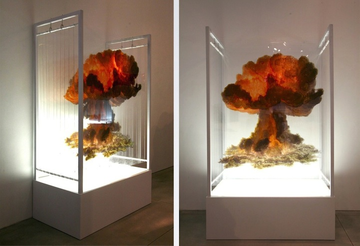 Catastrophic Disasters Recreated as Layered Sculptures