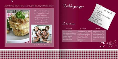 Vorlage Hochzeit Kochbuch