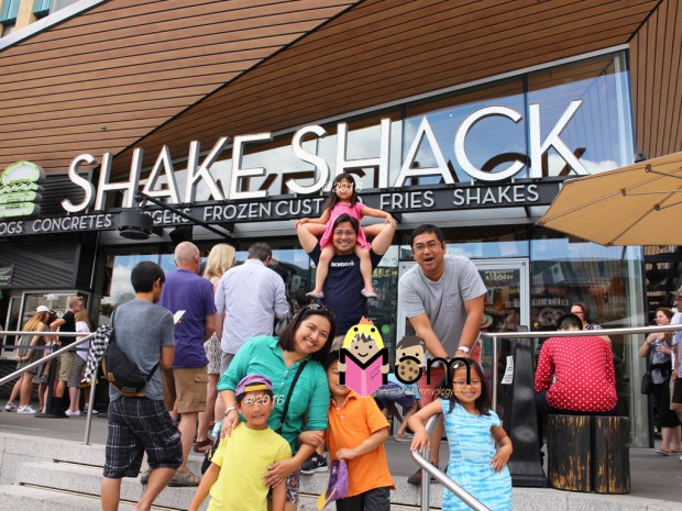 Shake Shack!  Pile on the calories.
