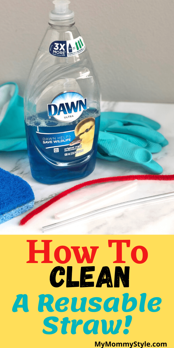 To cut down on waste, a lot us are using reusable straws. Learn how to clean a straw without a straw cleaner in this quick tutorial! via @mymommystyle