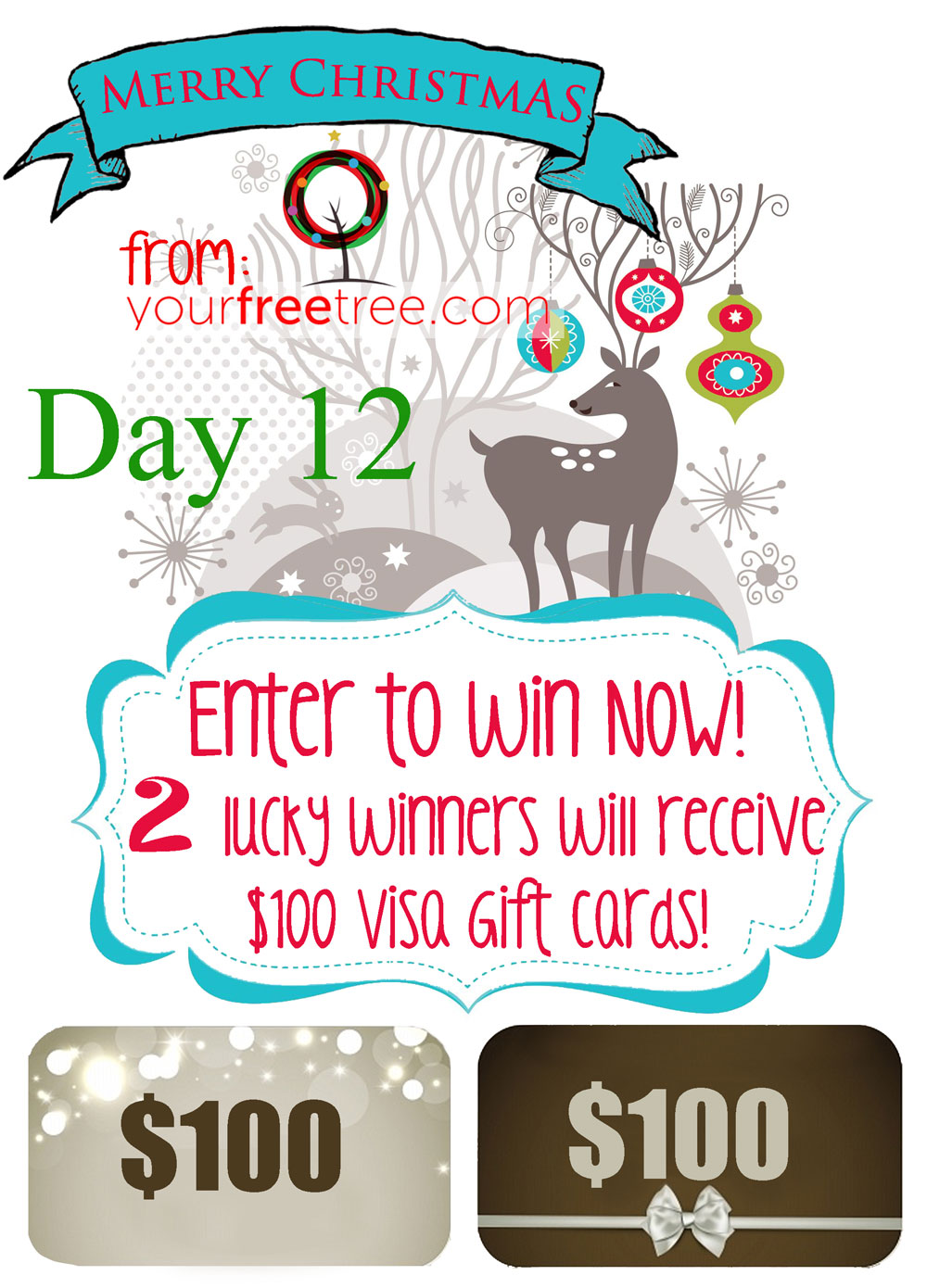 Enter For Your Chance To Win One Of 2 100 Visa Gift Cards