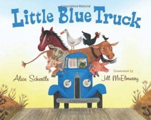 books blue truck