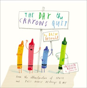 books crayons