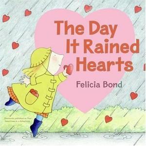 Valentine rain hearts