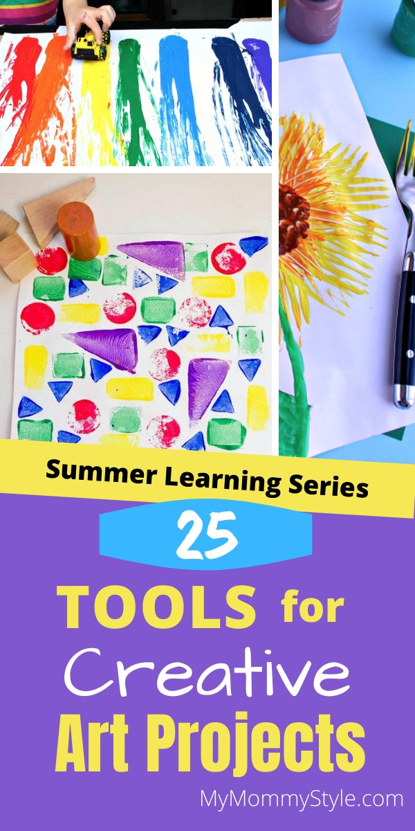 There are so many tools your kids can use for creative art projects. Here's twenty five tools that will create some fantastic works of art! via @mymommystyle
