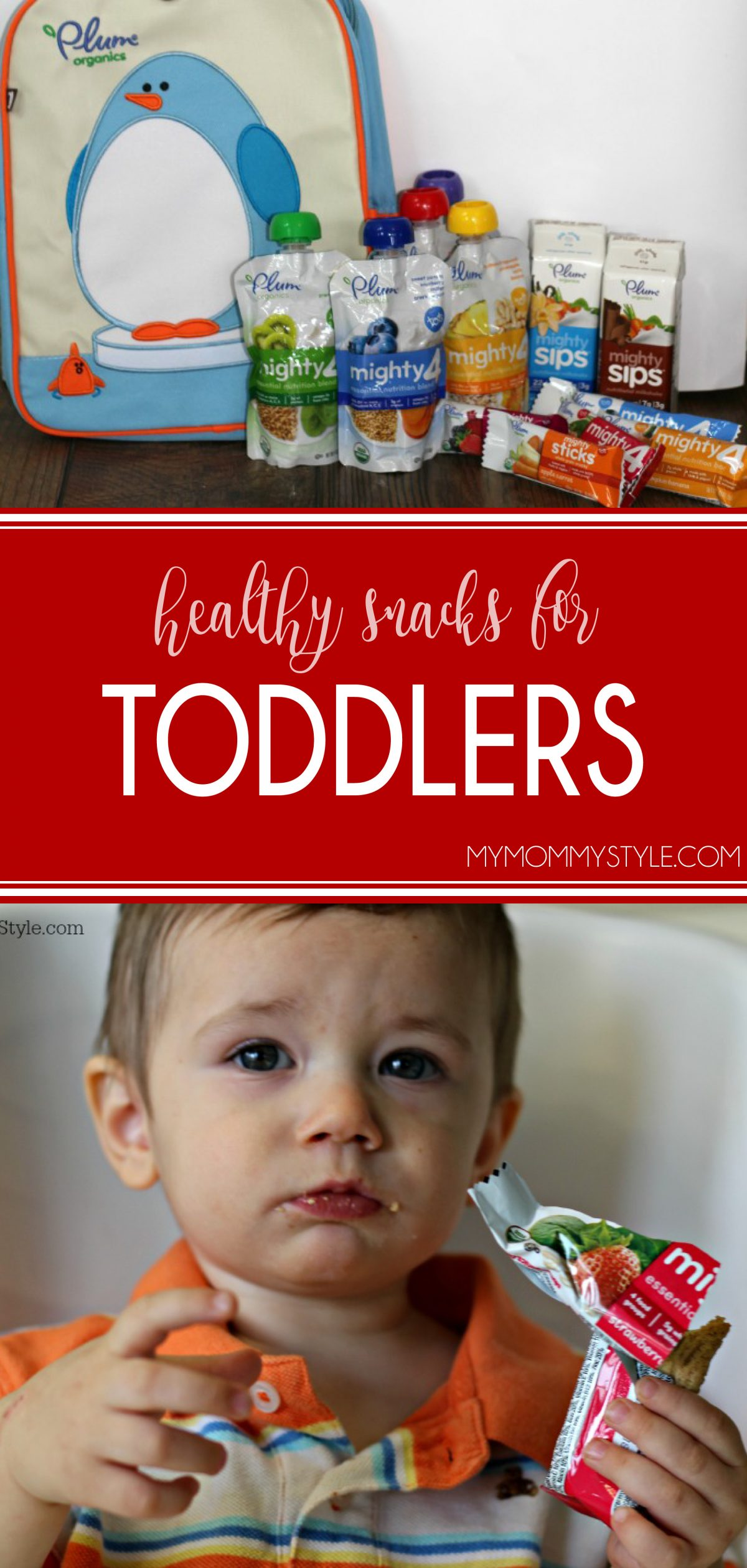 Healthy snacks for toddlers can be hard to find especially when on the go. This list of snacks will help you give your toddler the nutrition he/she needs! via @mymommystyle