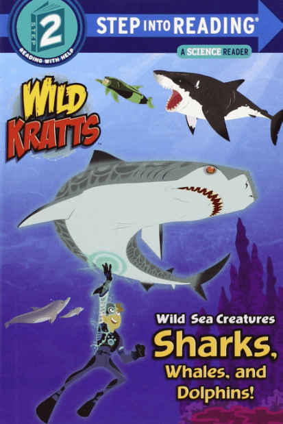 """Shark Books for Kids """"Wild Sea Creatures Sharks, Whales, and Dolphins!"""""""