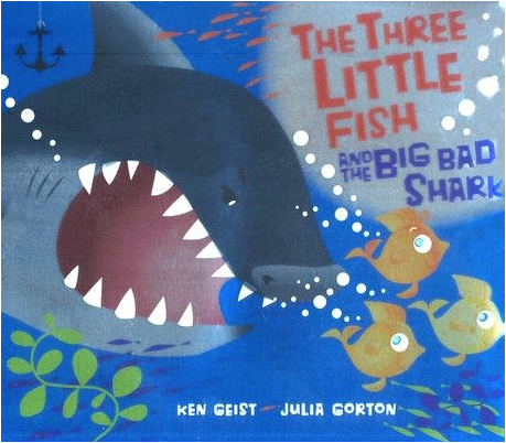 """Shark Book for Kids """"The Three Little Fish and the Big Bad Shark"""""""