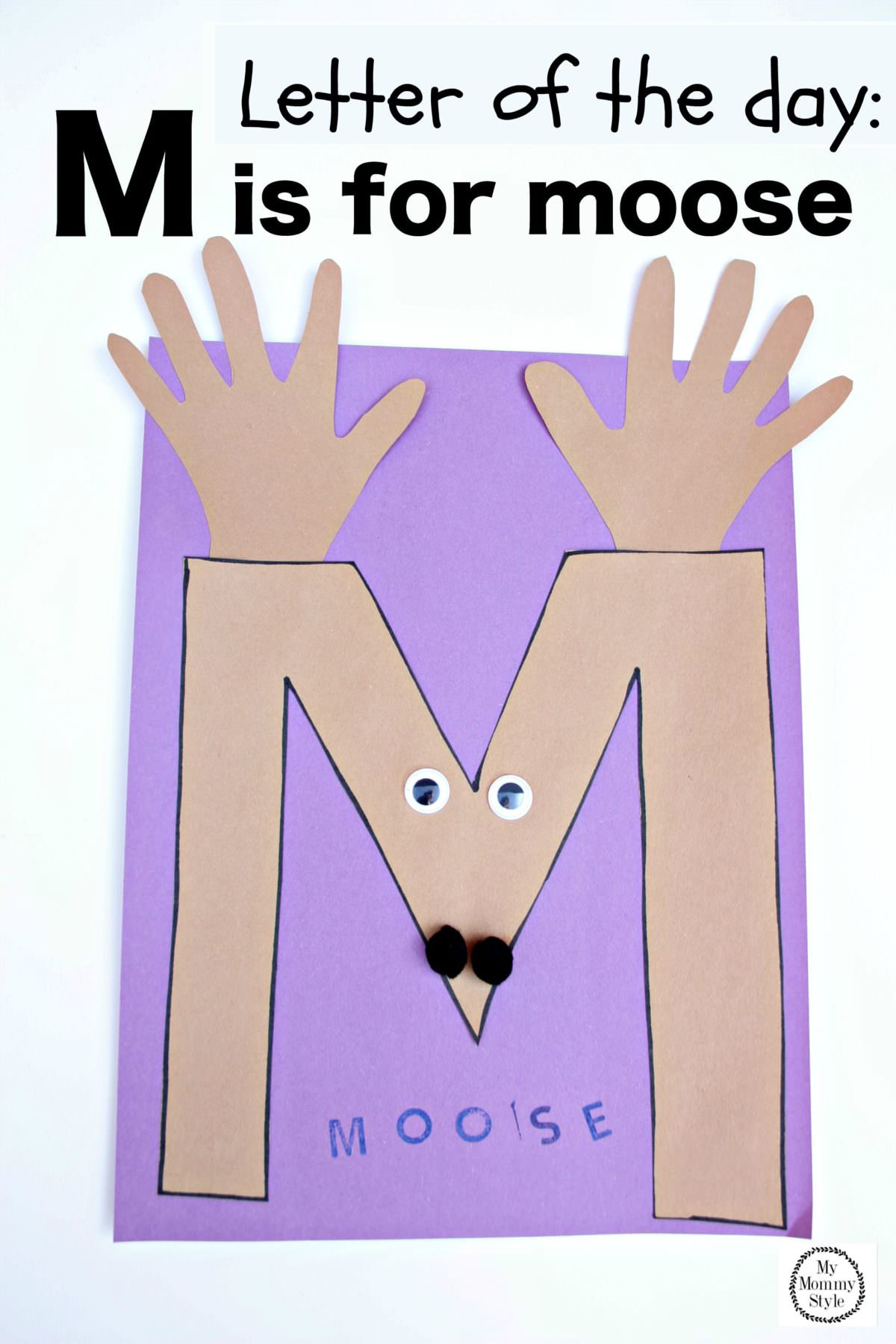 Letter Of The Day M Is For Moose