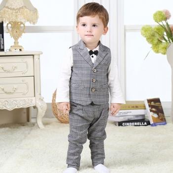 Plaid boys suit, PATPAT