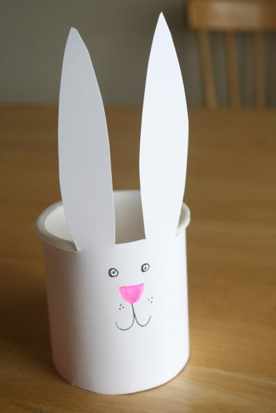 upcycled easter bunny