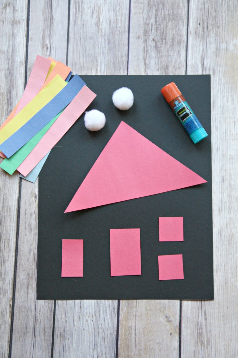 Colorful Shape House Craft My Mommy Style