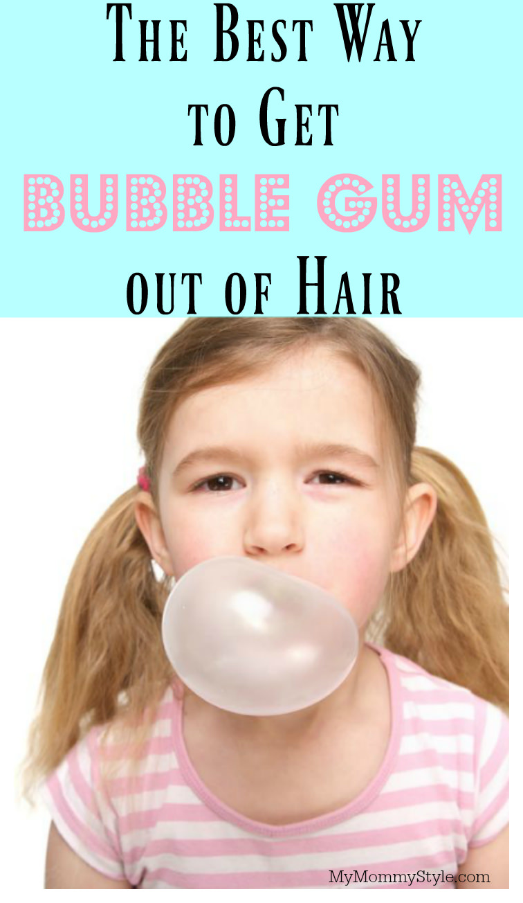 Gum can be such a sticky mess when it ends up in your child's hair. Learn how to get gum out of hair without any scissors.  via @mymommystyle