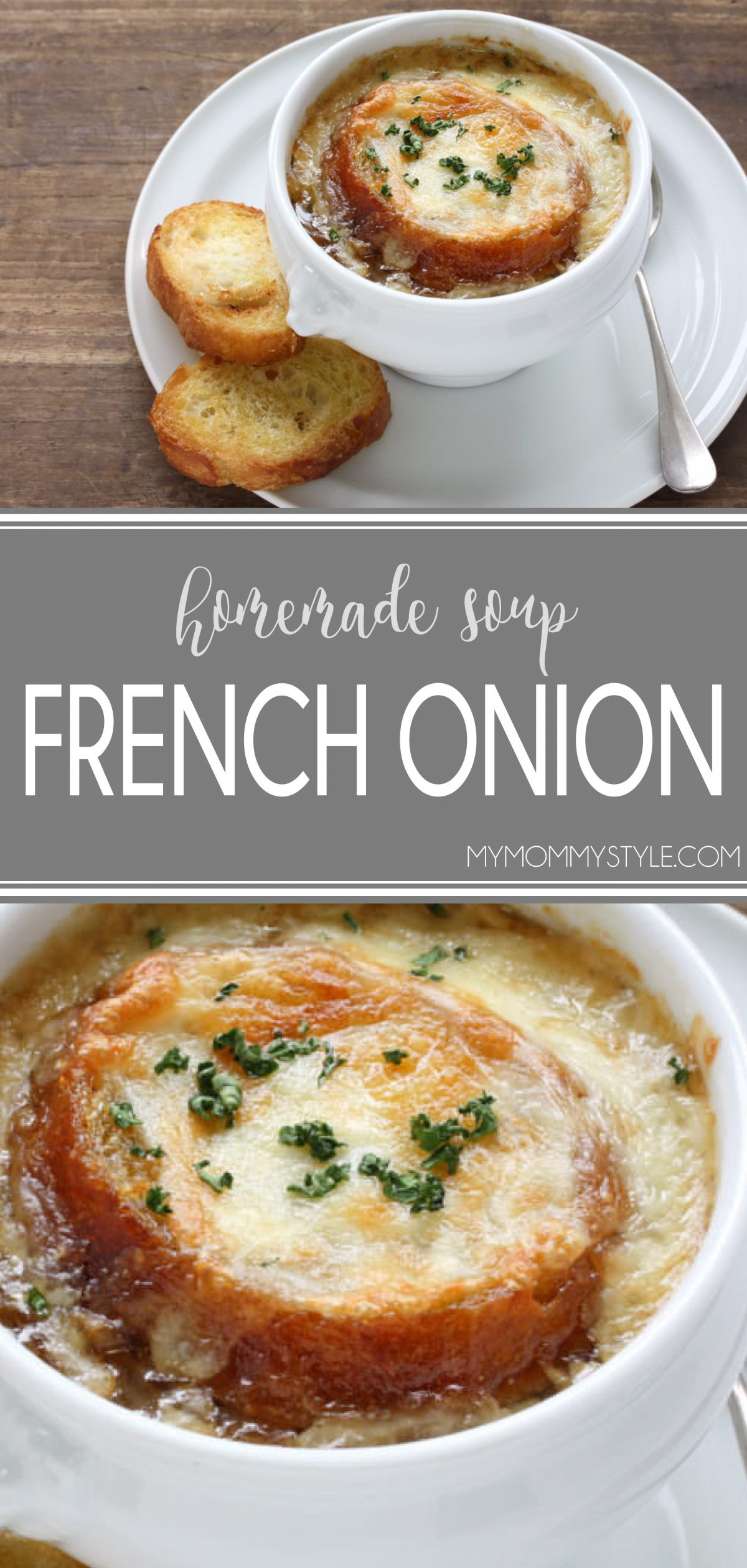 This french onion soup recipe has been shared by a french family and is well worth making from scratch! via @mymommystyle