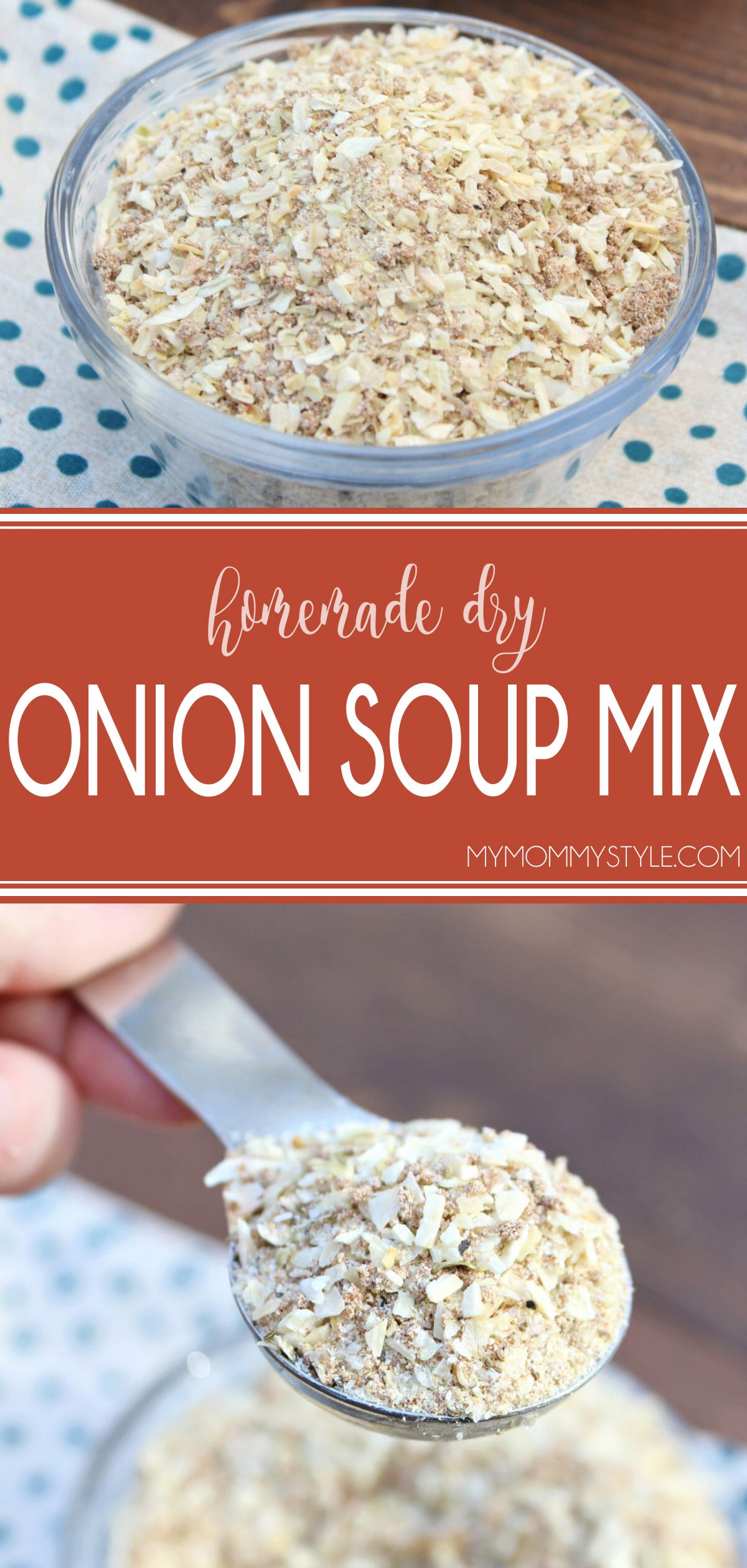 Are you in a pinch and need a substitute for dry onion soup mix? Skip the store and make this super easy and fast recipe equal to one 1-ounce packet. via @mymommystyle