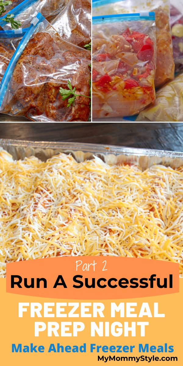 Simplify your dinners with make ahead freezer meals. This is part 2 of a step by step outline to have a successful freezer meal prep night. #makeaheadfreezermeals #freezermeals #freezermealprepnight via @mymommystyle