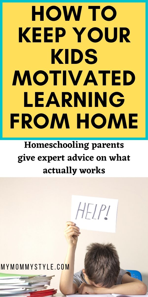 Help your kids stay motivated from home during the quarantine during this pandemic. Parents lend their advice of what works for schedules, rewards, and motivated to save your sanity and theirs. #covid19 #DistanceLearning #CoronaVirus via @mymommystyle