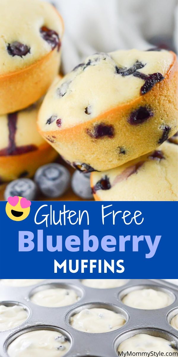Easy gluten free blueberry muffins are light and airy and loaded with blueberries. They come together quick and make the perfect meal or snack. #glutenfreeblueberrymuffins #glutenfreemuffins #blueberrymuffins via @mymommystyle