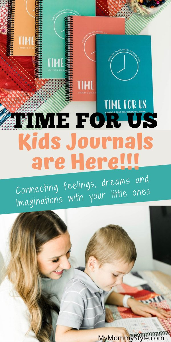 It's here!!! Time for Us is launching their first parent and kids journals with journal prompts for kids to connect and create memories. #kidsjournals #journalpromptsforkids #connectingwithyourkids via @mymommystyle