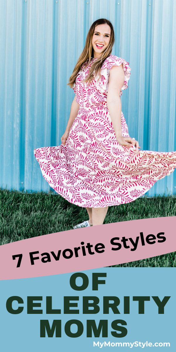 Create your own trendy look with these styles of celebrity moms. So many looks that are comfortable to wear and flattering on all body types. #celebritymoms #momstyle #momfashion via @mymommystyle