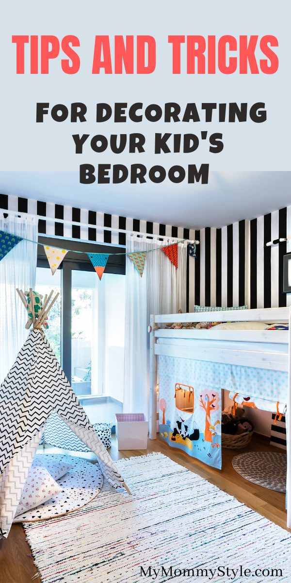 Find the perfect kids bedroom decor that matches with your child's personality. Here are 6 tips and tricks to help create the best room. #kidsbedroomdecor #kidsbedroomdecorideas #kidsbedroom via @mymommystyle