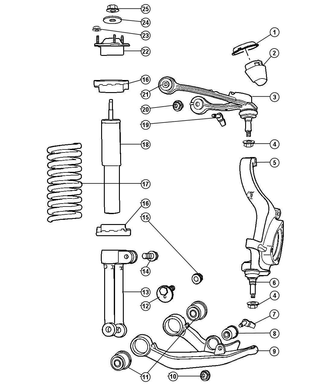 Jeep Liberty Clevis Front Right Or Left Shock