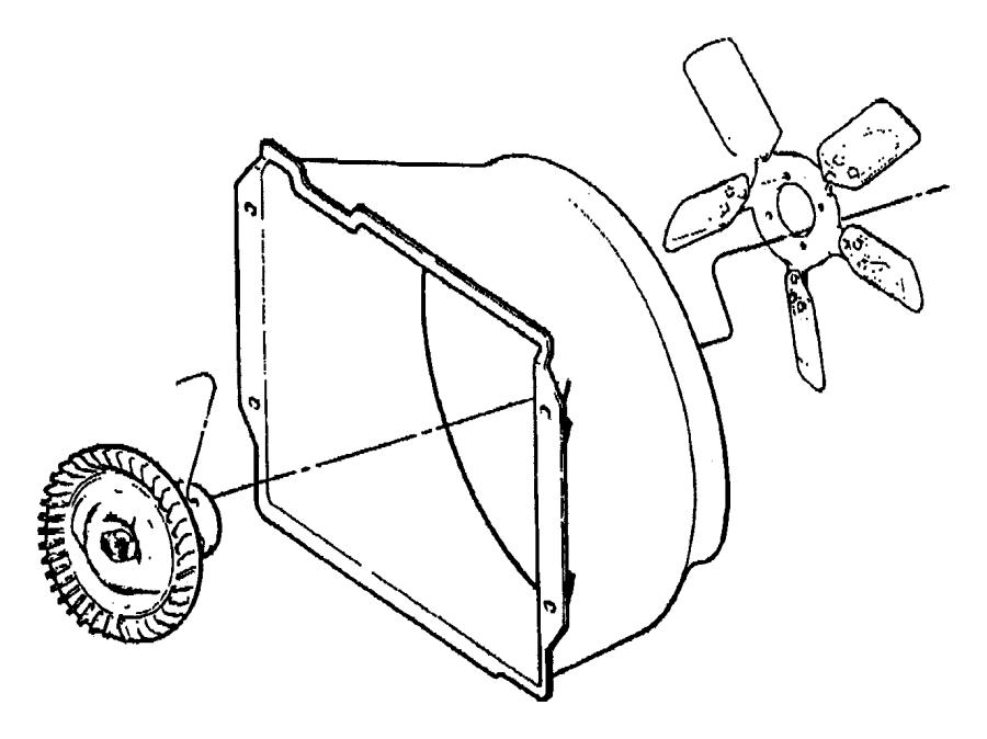 2000 Jeep Wrangler Engine Cooling Fan Clutch Blade. FAN
