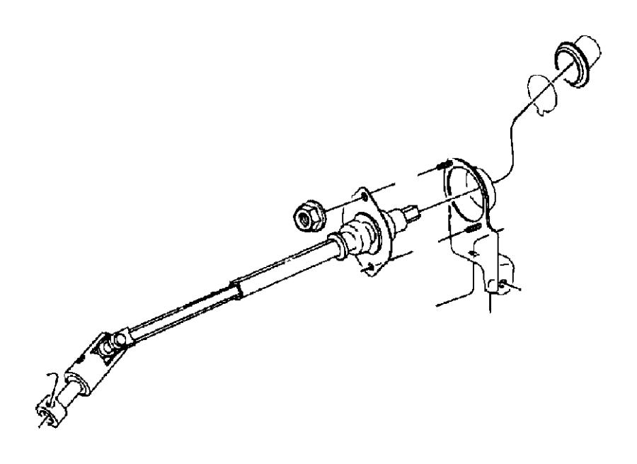 1999 Jeep Wrangler Intermediate shaft. Lower shaft