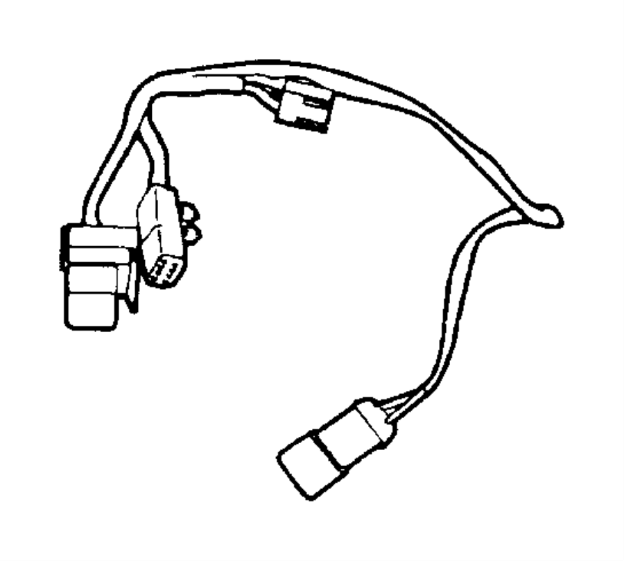 2001 Jeep Cherokee Hvac system wiring harness. Wire