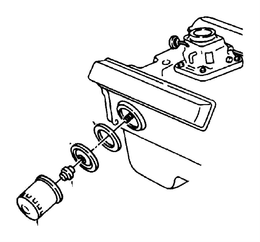 2008 Dodge Ram 1500 Engine Oil Filter Adapter. Oil filter