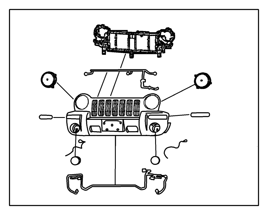 2002 Jeep Liberty Headlamp. Wire harness. Wiring