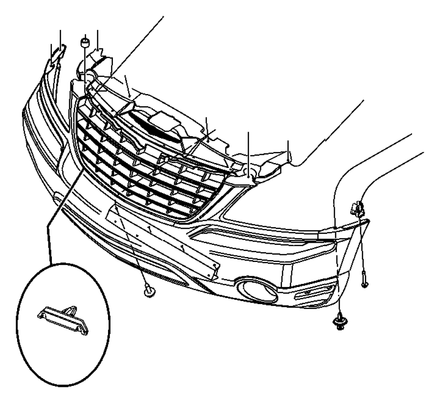 Chrysler Pacifica Front Bumper Diagram