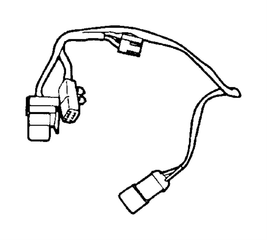 2001 Jeep Wrangler Hvac system wiring harness. Wire