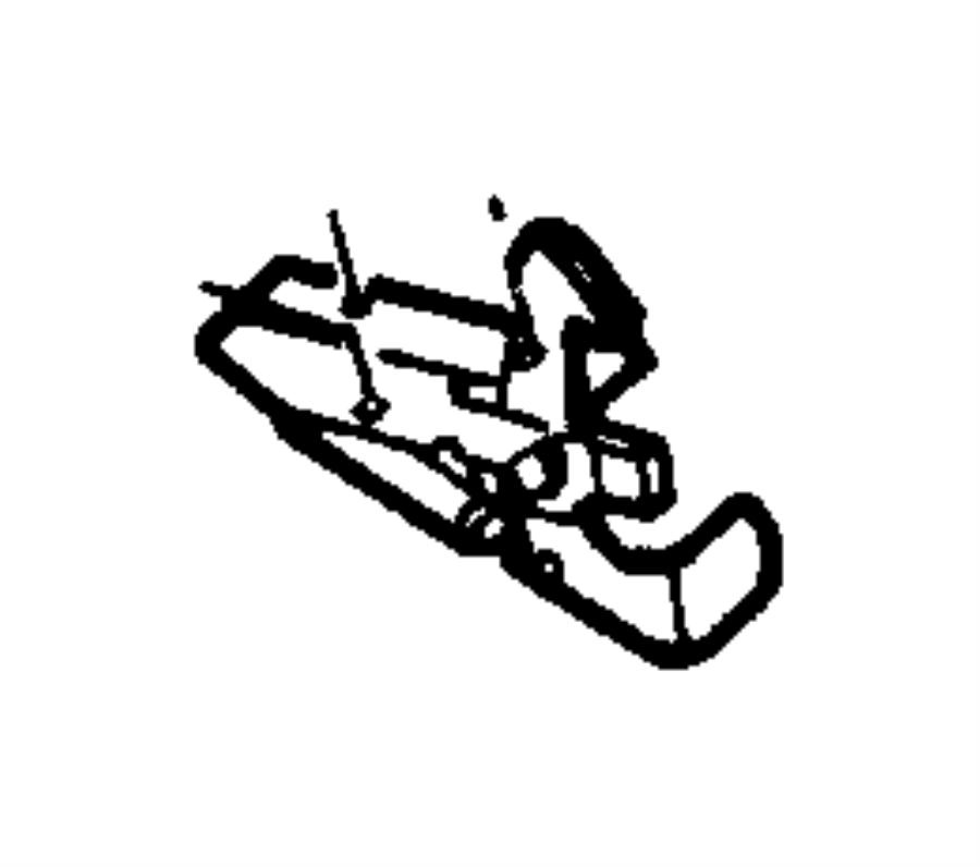2006 Jeep Wrangler Hood safety catch. Latch. Safety catch
