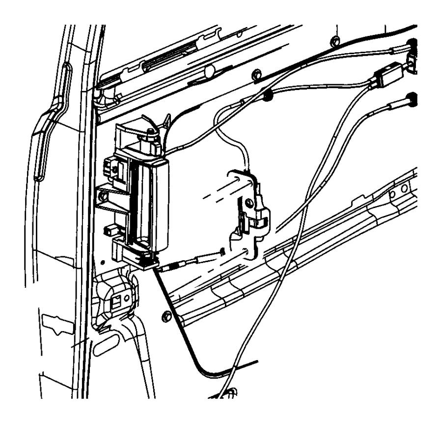 2008 Dodge Grand Caravan Sliding Door Parts Diagram