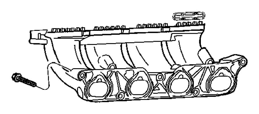 2005 Chrysler PT Cruiser Engine Intake Manifold Gasket