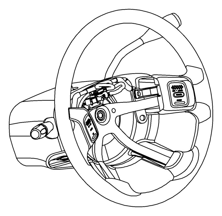 2004 Dodge Ram 1500 Steering Wheel Wiring Harness. Wire