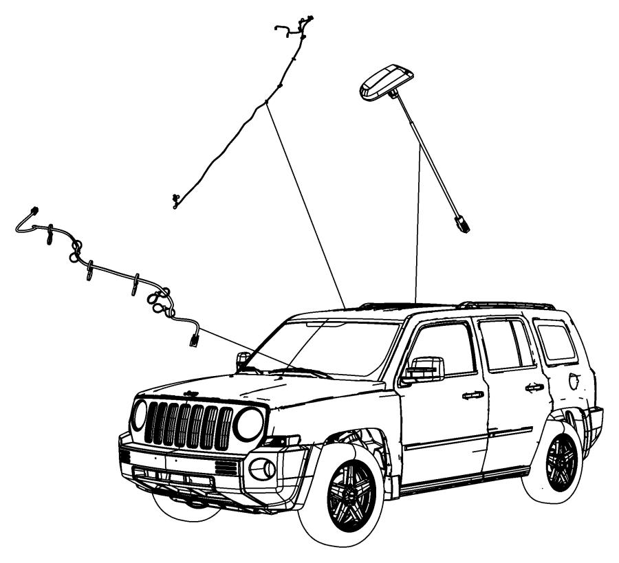 2010 Jeep Patriot Antenna. Satellite ant. Wiring