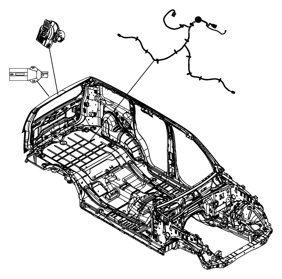 2007 Dodge NITRO Fuel tank. Wire harness. Wiring. Dodge