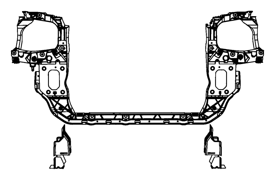 2008 Chrysler Town And Country Radiator Support Diagram